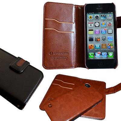 iPhone 5/5S SE Wallet Handy Tasche Case Cover Etui Schutz Hülle Handytaschen