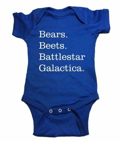 "The Office Baby One Piece /""Bears Beets Battlestar Galactica/"" Bodysuit"