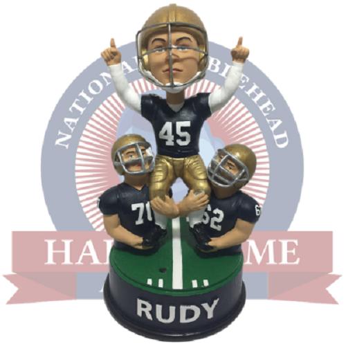 Rudy Daniel Ruettiger Notre Dame Fighting Irish Football Talking Bobblehead NCAA