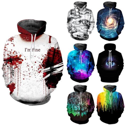 3D Printed Men Women Hoodies Hip-hop Sweatshirts Pullover Coats Long Sleeve Tops