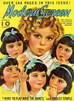 SHIRLEY TEMPLE great 8x10 magazine cover PHOTOPLAY from 1937 -- (z013)