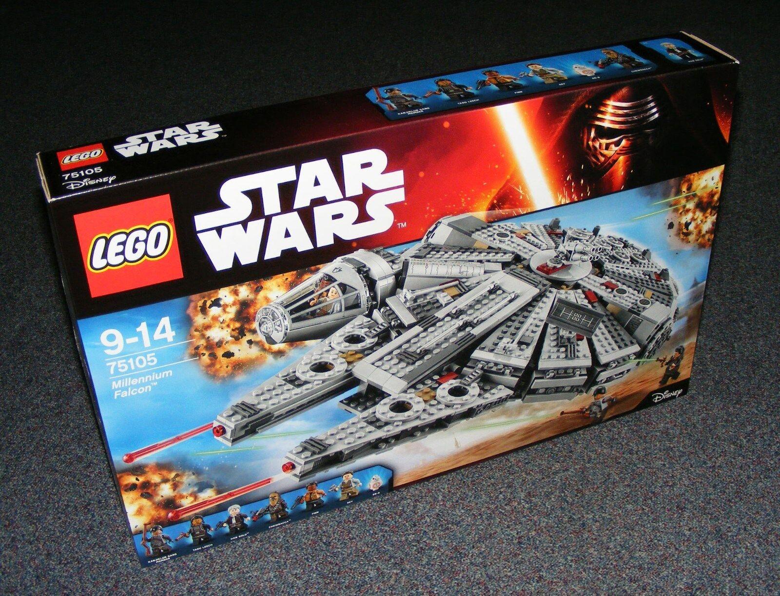 STAR WARS LEGO 75105 Faucon Millenium Neuf Scellé Entièrement neuf dans sa boîte