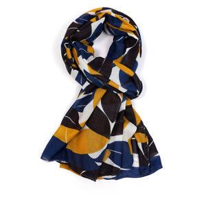 New-Design-Leaf-Leaves-Mustard-Black-Blue-Orange-White-Scarf-Scarves-LilyRosa