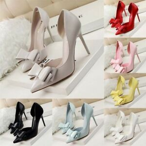 Women-Ladies-Party-Stiletto-Slim-High-Heel-Shoes-Pointed-Toe-Wedding-Heels-Pumps