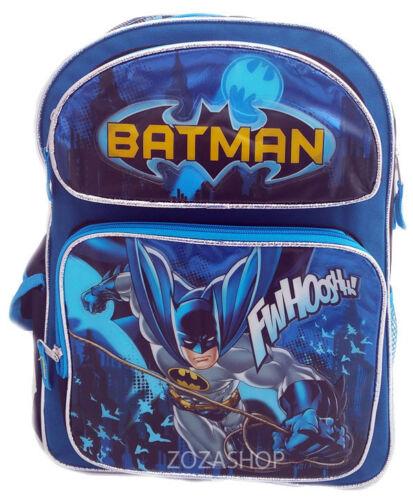 "BATMAN 16/"" Large School Backpack Boy Backpack BAT NEW!"