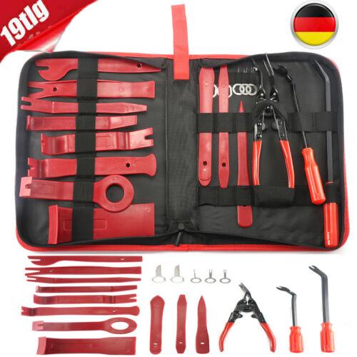 Innenraumverkleidung-Werkzeug 19-tlg KFZ Cliplöser-Demontage-Set Montagehebel