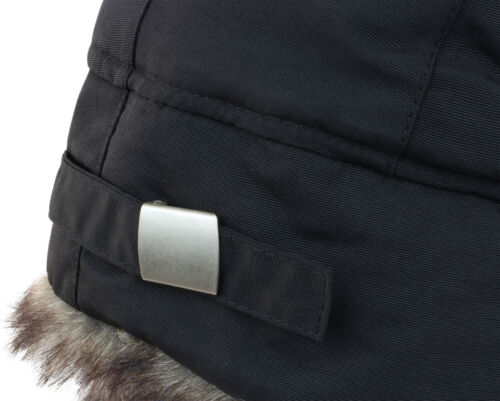 Winter Fur Hat with Lining and Water-Repellent Nylon Taslon outer material