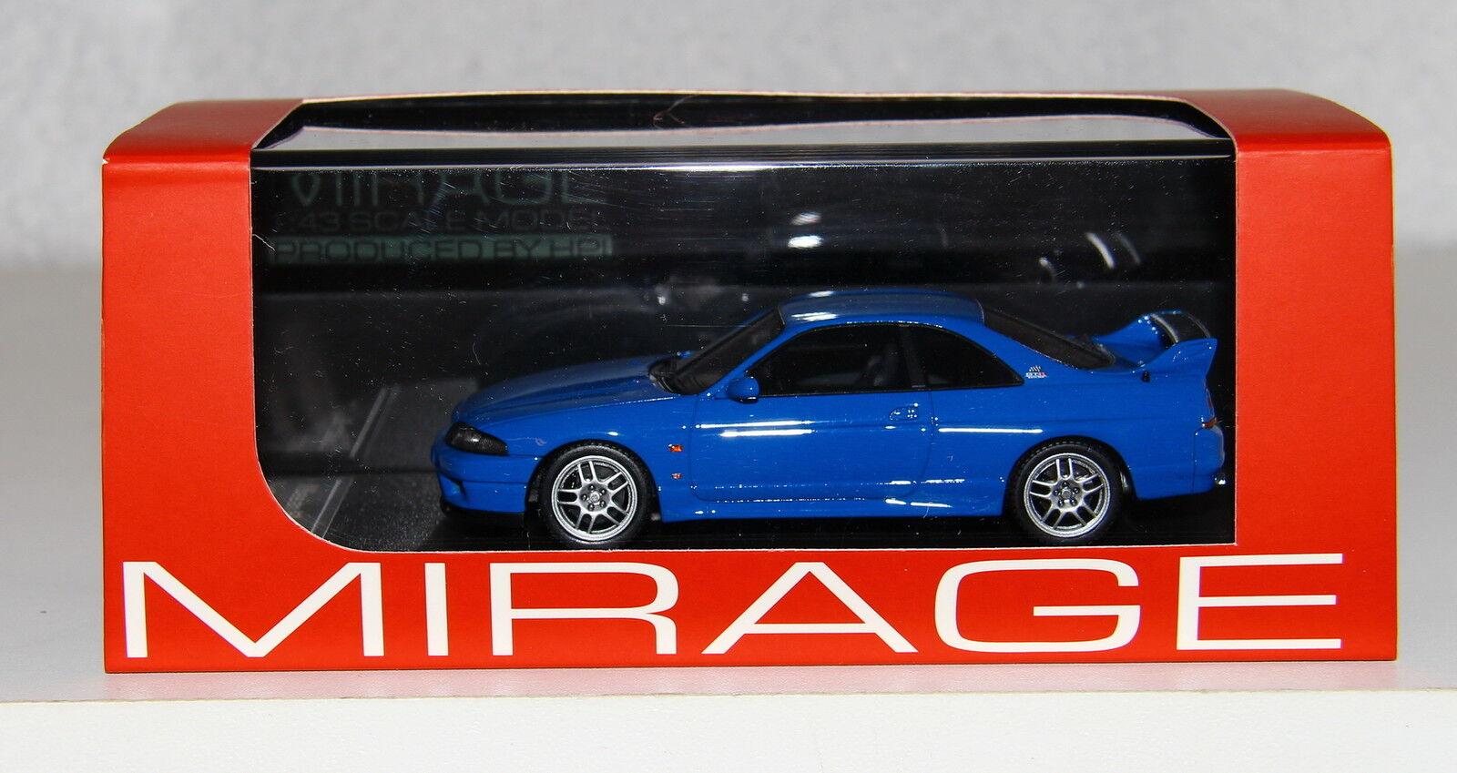 clásico atemporal HPI RESIN 8385 8385 8385 1 43 Nissan R33 Skyline GT-R V-spec LM Limited azul RARE  soporte minorista mayorista