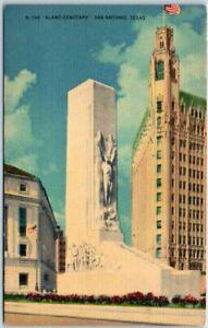 San-Antonio-Texas-Postcard-034-The-Alamo-Cenotaph-034-Street-View-Metropolitan-Linen
