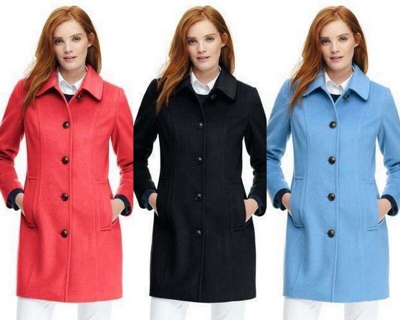 189 NWT Lands End Womens Wool Car Coat