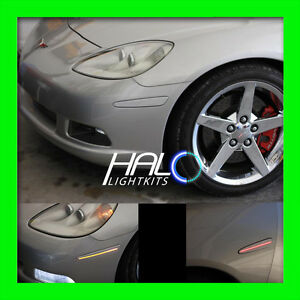 Details About 2005 2013 Oracle Chevy Corvette C6 Concept Silver Ghosted Led Side Markers