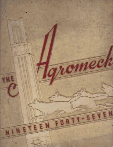 "NC + 1947 /""Agromeck/"" Raleigh North Carolina State University Yearbook"