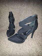 ABS-ALLEN SCHWARTZ-Letta-Black Stiletto Heels-Sexy Look!-Size 9.5M-Near Mint