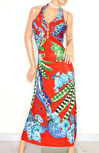 Caricamento dell immagine in corso ABITO-LUNGO-ROSSO-BLU-VERDE-vestito-donna -strass- 5bf26d84598