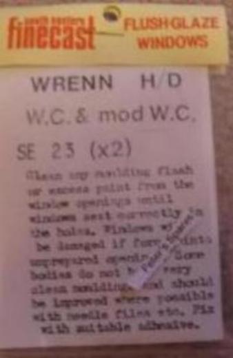 FlushGlaze Windows SE-23 Wrenn West Country (Both) OO Gauge