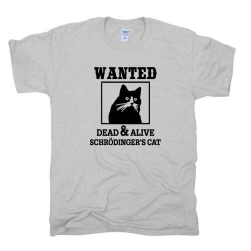 Schrödinger Cat gato Dead /& Alive tbbt Sheldon String teoría T-Shirt S-XXL