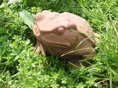 Skulptur Frosch No 1 Kunst Sandstein Antik Look Steinguss N 01 ROT