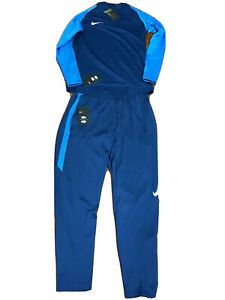 inercia Estrecho de Bering Metáfora  New Nike Soccer Squad Drill Training Top M & Pant L (Blue) Men | eBay