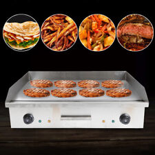 Electric Countertop Griddle Flat Restaurant Bbq Griddle Grill Commercial 4400w