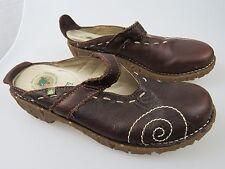 EL NATURALISTA Brown Leather Loafer Slip On Frog Shock System Women's EU 40