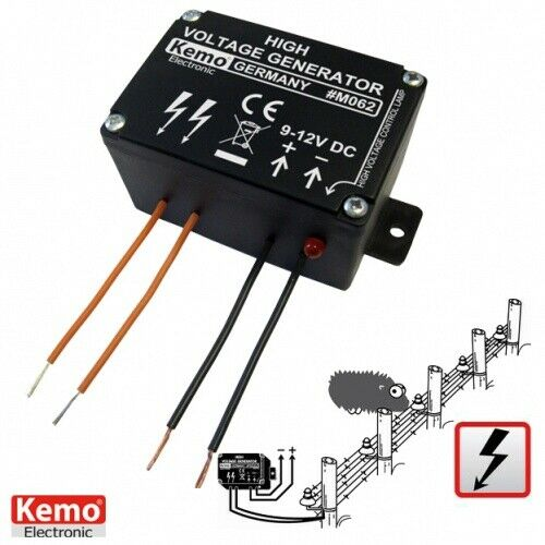 165 KEMO M062 Mini Weidezaun Hochspannungsgenerator 9-12V Generator-Elektrozaun
