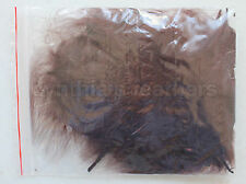 "8g (1/4Oz+) Chocolate Brown 1~3"" Turkey Marabou Feathers for crafting, 50~70pcs"