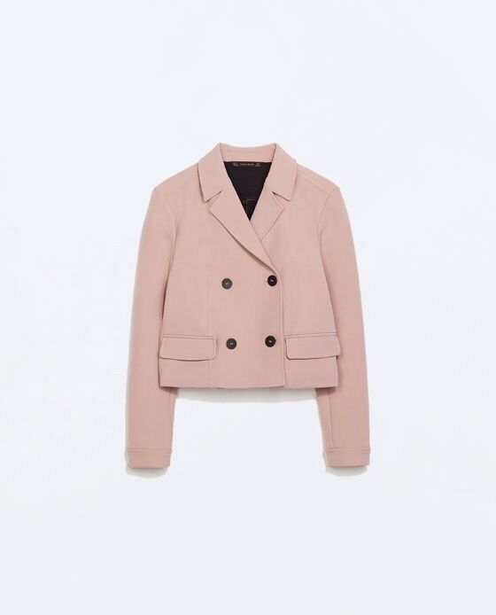 Zara Short Double Breasted Blazer
