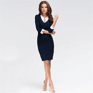 Elegant Women Office Lady Formal Wear Business Work Party Pencil