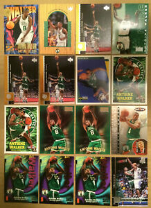 Antoine Walker LOT of 16 rookie RC insert 2ndyr cards NM+ Boston Celtics 1996-97