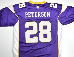 Details about Adrian Peterson Minnesota Vikings Reebok Purple Short Sleeve Replica Jersey: XL