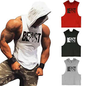 Men-Gym-Muscle-Workout-Lightweight-Printing-Sleeveless-Athletic-Hoodies-Tank-Top
