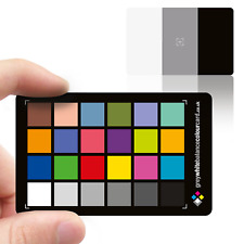 2 in 1 Grey White Balance Colour Card: 3x2  Credit Card Size - Black Version