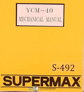 supermax ycm 40 oem yeong chin milling operations maintenance and rh ebay com Wiring Diagram Symbols Light Switch Wiring Diagram