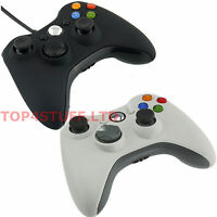WIRED OR WIRELESS CONTROLLER FOR MICROSOFT XBOX 360 PC WINDOWS, BLACK OR WHITE