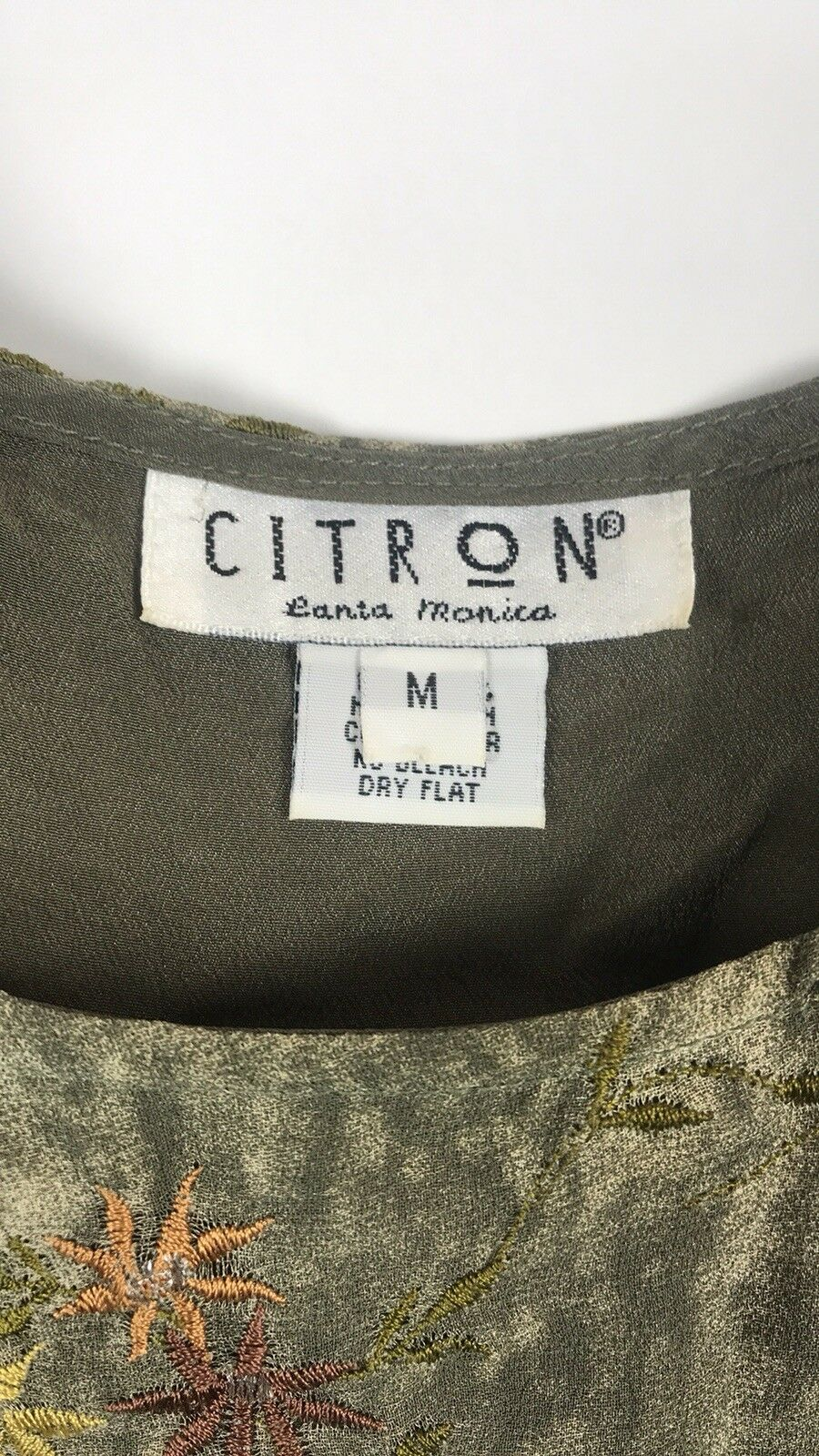Citron Santa Monica embroidered embroidered embroidered maxi dress 09a94b
