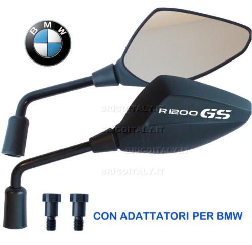 Specchietti Omologati ORI adattatori per BMW R1200GS 2005-10 ADVLogo Bianco