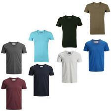 Jack & Jones Herren T-Shirt V-Ausschnitt JJEBASAL V-NECK Regular S M L XL XXL