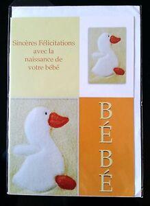"""D23 enveloppe Carte /""""Félicitations a l/'occasion de la naissance du bébé/"""""""