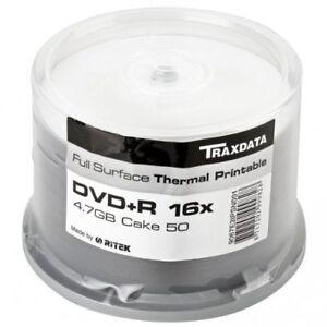 DVD-R-16X-Traxdata-Thermal-Printable-FF-White-Tarrina-50-uds-by-Ritek