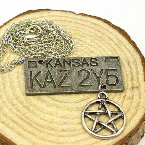 Accessories supernatural dean of the license plate pentagram necklace Jewelry