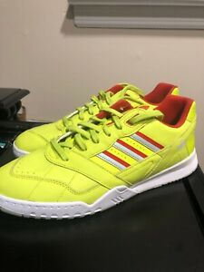 Details about Adidas Size 13 Men's A.R. Trainer Shoes Sneakers Leather Neon Yellow DB2736 G