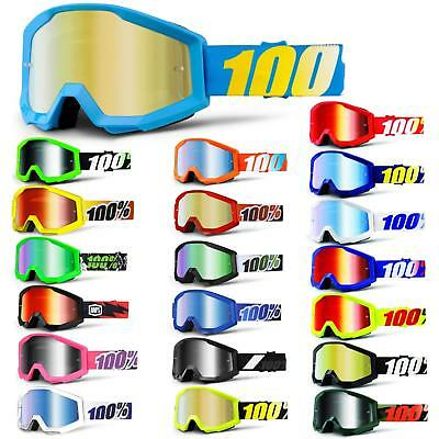 100% Strata Goggle Occhiali A Specchio Mtb Mx Downhill Mountain Motocross-