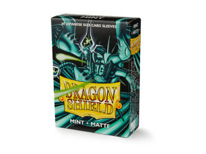 Japanese Matte Mint 60 ct Dragon Shield Sleeves YuGiOh Size 10% OFF 2+