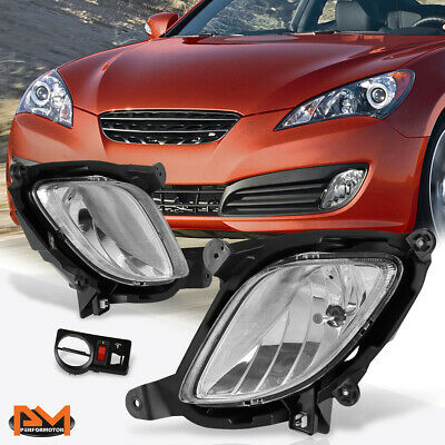 For 10-12 Hyundai Genesis Coupe Amber Lens Front Bumper Fog Light//Lamp W//Switch