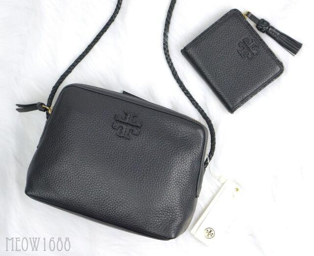Tory Burch TAYLOR Black Cross-Body Camera Bag Purse Mini Wallet Set mcgraw $485