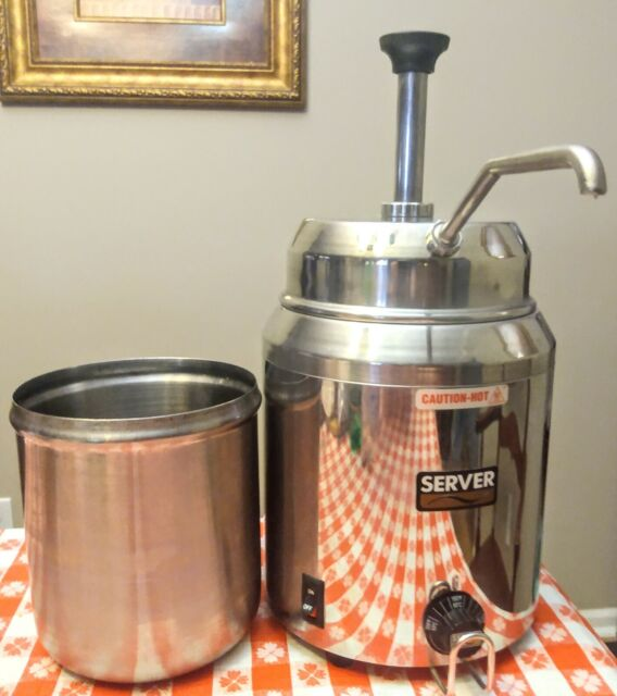 Hot Fudge Caramel Nacho Cheese Dispenser Warmer with Pump Server 82060 Stainless