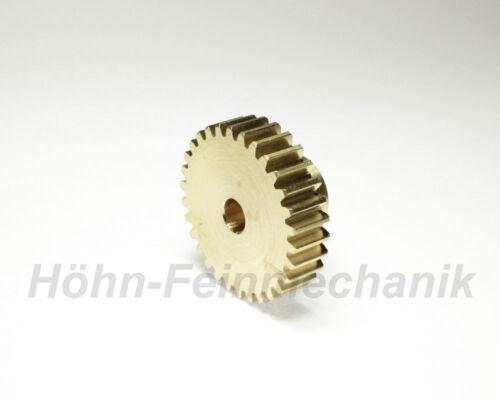 Modul 1,0 30 Zähne Stirnzahnrad aus Messing Zahnrad