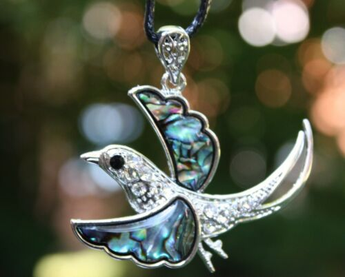P78 Muschel Perlmutt Perlen Schmuck Anhänger Collier mit Schnur Halskette Kette