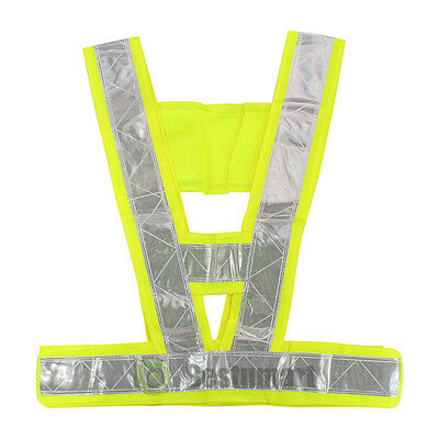 New High Safety Security Visibility Reflective Vest Gear Green US Shipping