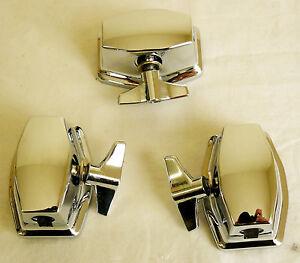 new 3 chrome floor tom leg bracket mount for floor tom drum set kit ebay. Black Bedroom Furniture Sets. Home Design Ideas